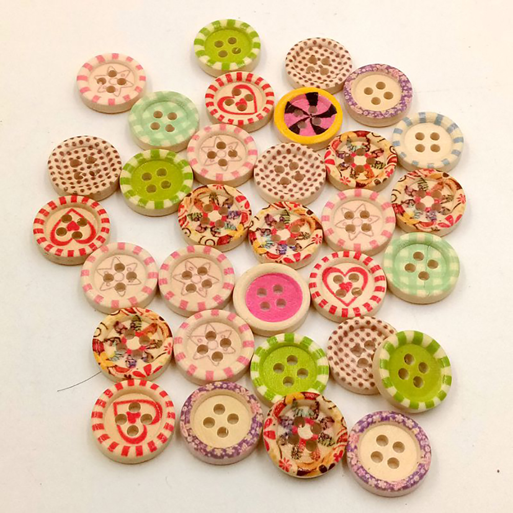 Wholesale-100pcs-2-Holes-Wooden-Sewing-Heart-Shape-Button-Craft-Scrapbooking-DIY thumbnail 32